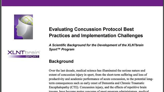 New White Paper Evaluates Scientific Validation of XLNTbrain Sport™ Concussion Protocol